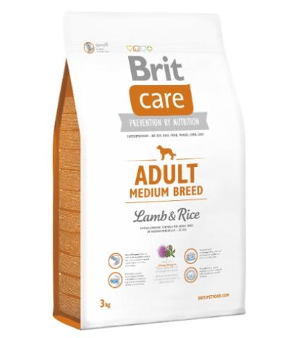 Brit Care Adult Medium Breed Lamb & Rice (bárány rizs) 3kg
