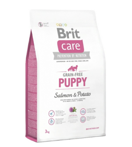 Brit Care Puppy Salmon & Potato (Lazac&Burgonya) 3kg