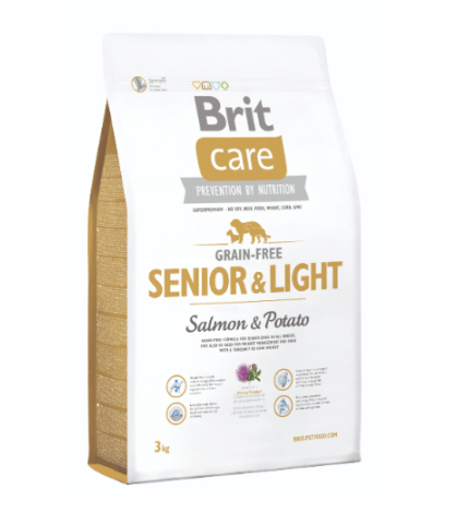 Brit Care Senior & Light salmon & potato (lazac burgonya) 3kg