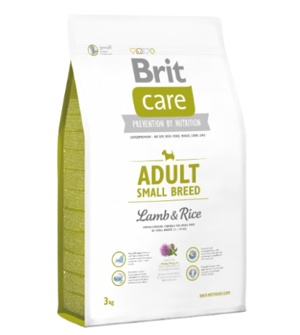 Brit Care Adult small Breed Lamb & Rice (bárány rizs) 1kg
