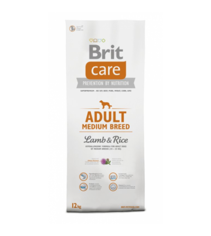 Brit Care Adult Medium Breed Lamb & Rice (bárány rizs) 3kg