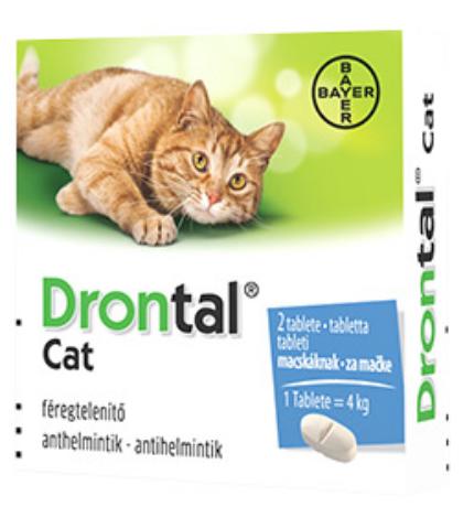Drontal Cat féregtelenítő tabletta 2db /doboz