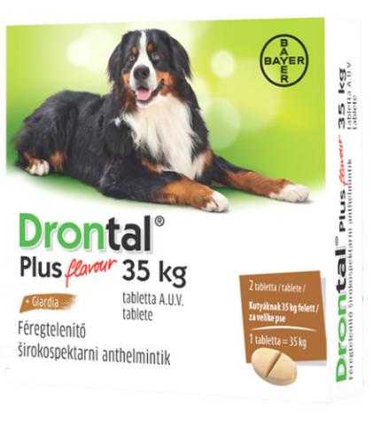 Drontal Plus flavour 35 kg-os kutyáknak