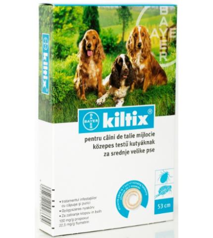 KILTIX Kullancs és bolhairtó nyakörv kutyáknak 53CM