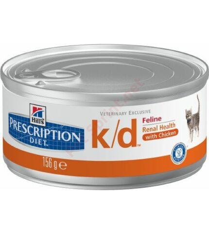 Hill's PD Feline k/d Minced Chicken konzerv gyógytáp 156 g