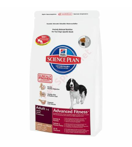 Hill's SP Canine Adult Advanced Fitness Medium Lamb & Rice kutyatáp