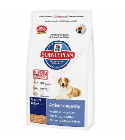 Hill's SP Canine Mature Adult 7+ Active Longevity Lamb & Rice kutyatáp