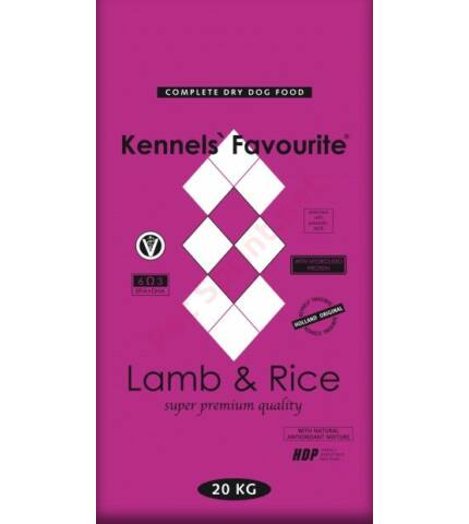 KENNELS' FAVOURITE LAMB & RICE kutyatáp