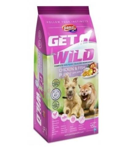 Panzi GET WILD Puppy Csirke és Hal kutyatáp
