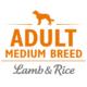 Brit Care Hypoallergen Adult Medium Breed Lamb & Rice (bárány rizs) petsprint.net