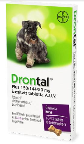 Drontal Plus ízesített féreghajtó tabletta 6db - Érdeklődjön